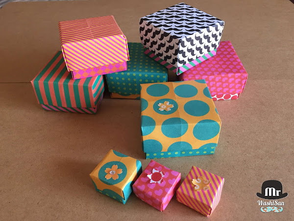 Videotutorial cajas de origami de papel decorado - Papel decorado manualidades ...