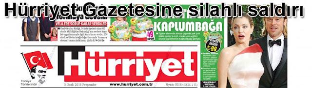 Hürriyet Gazetesine silahlı saldırı