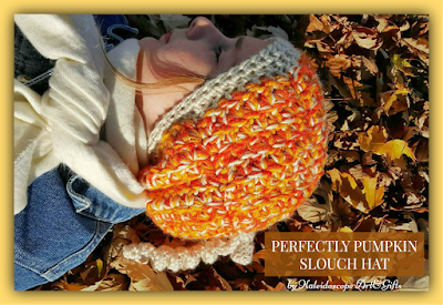 Perfectly Pumpkin Slouch Hat a FREE #crochet pattern by #KaleidoscopeArtnGifts for #Cre8tionCrochet