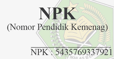 Nomor Pendidik Kemenag (NPK)