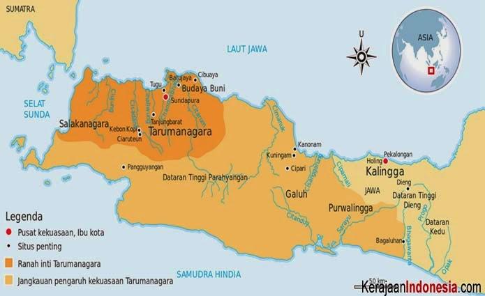 peta Kerajaan Tarumanegara