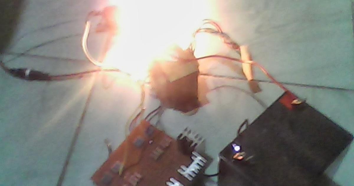 Haryo Toms: Inverter 12V to 220 V (Transistor TIP 41 + Trafo)