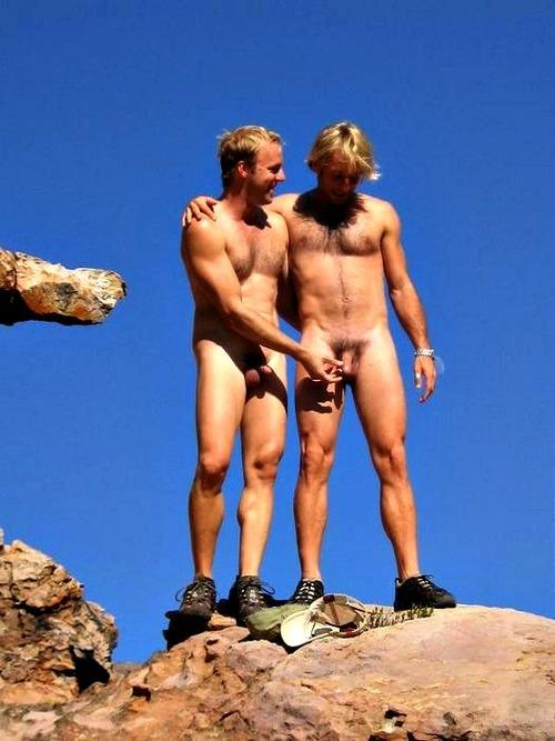 Naked mountain men seems