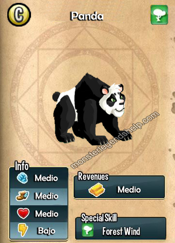 imagen del monster panda de monster legends