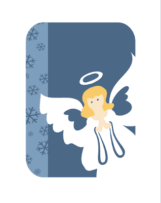 Christmas card with angel, Word