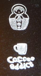 Babushka and Coffee stamp