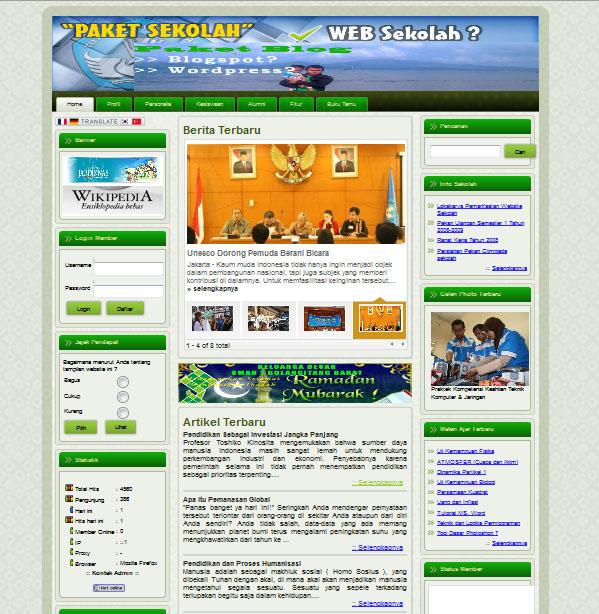 Cara Membuat Website Sekolah | akbar madani