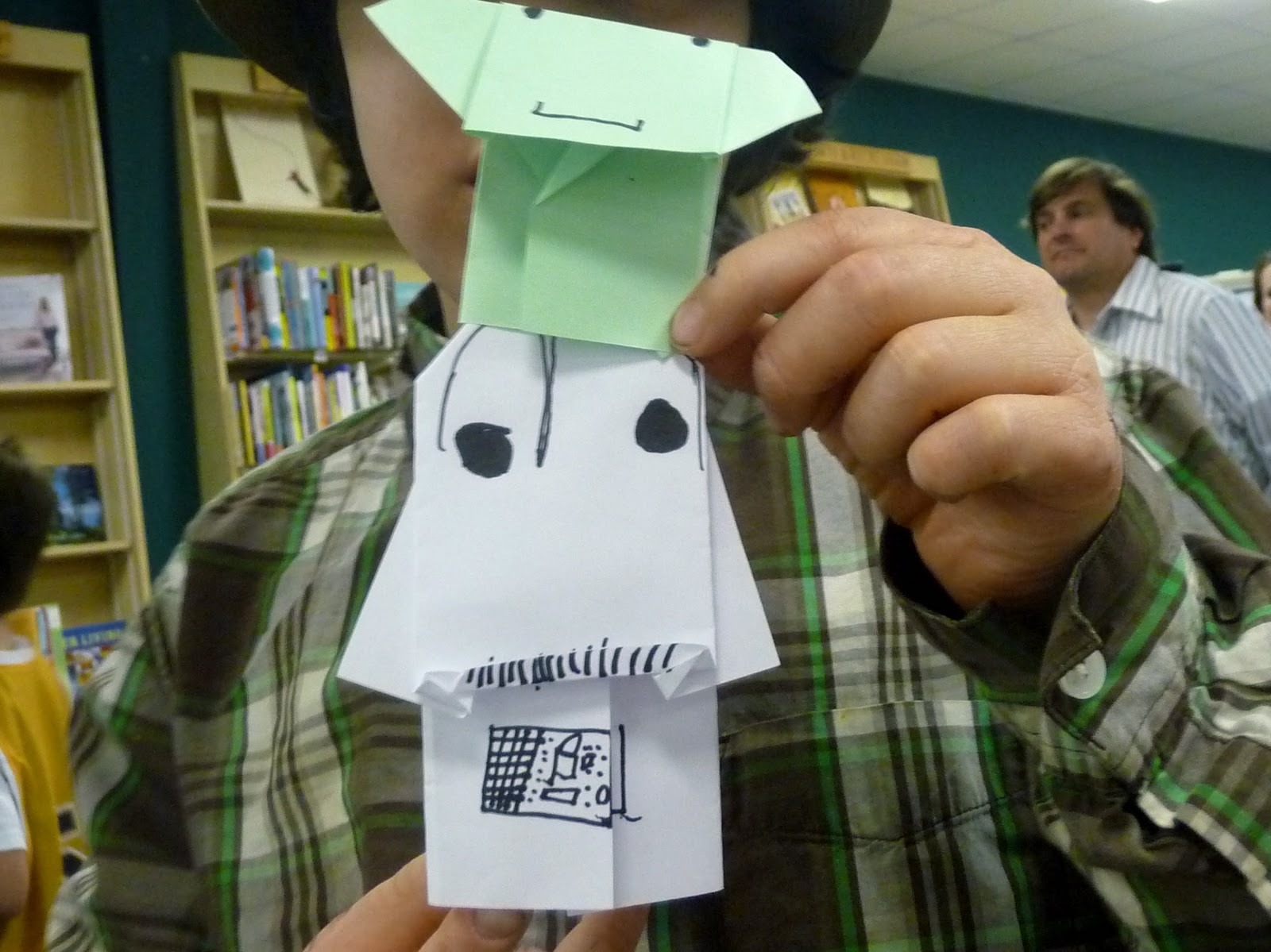 Teaching your middle schooler book review darth paper strikes origami yoda and darth paper we actually got personal instructions when we heard tom angleberger speak at quail ridge books so we already had our jeuxipadfo Images