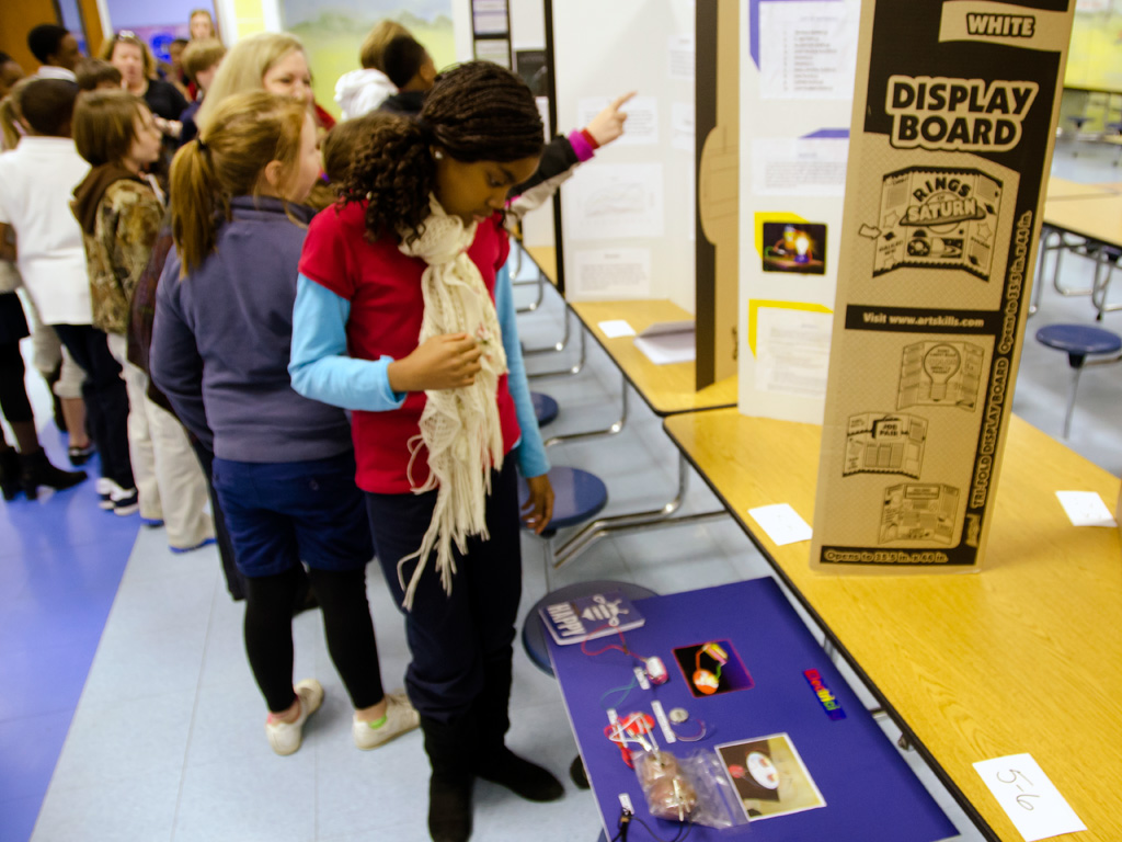 garver garver employees volunteer for science fair the projects involved everything from homemade ant spray to comparing battery brands to powering lights lemons