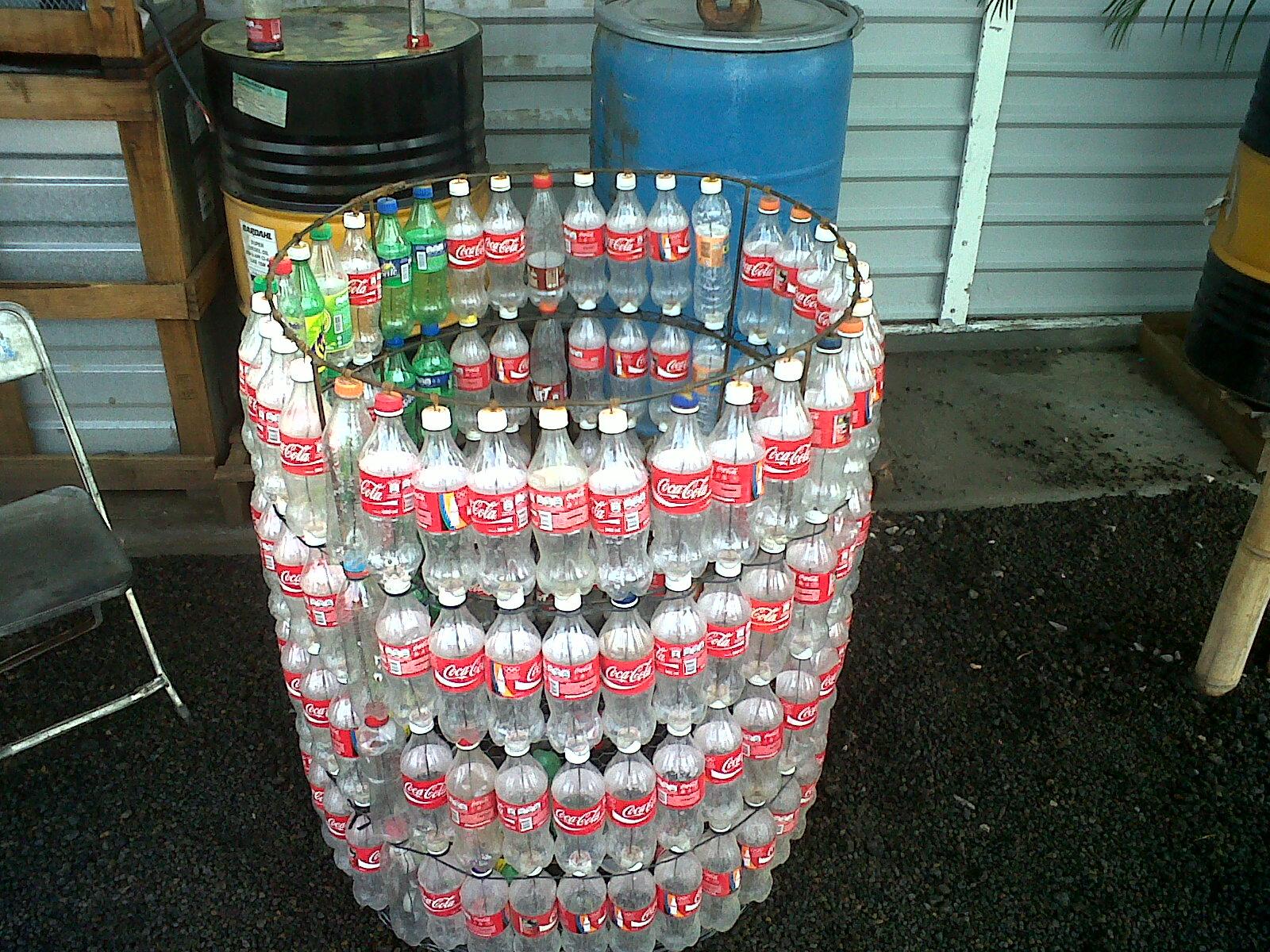 Поделки для гаража из пластиковых бутылок 70
