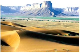 Daerah gurun memiliki kelembapan yang sangat rendah. (Sumber: Microsoft Encarta)