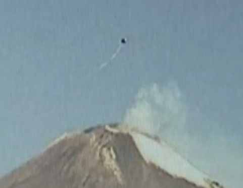 Dark UFO Captured Above Volcano Popocatepetl Mexico, UFO Sightings