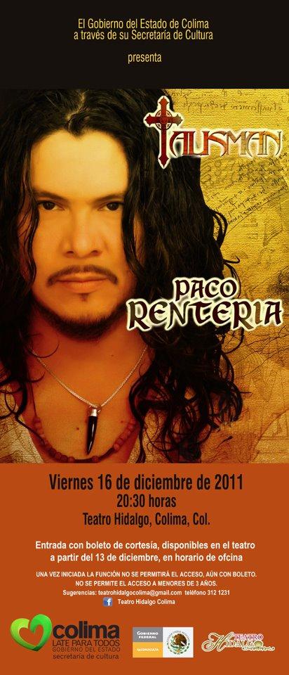 Paco Renteria Teatro Hidalgo Colima