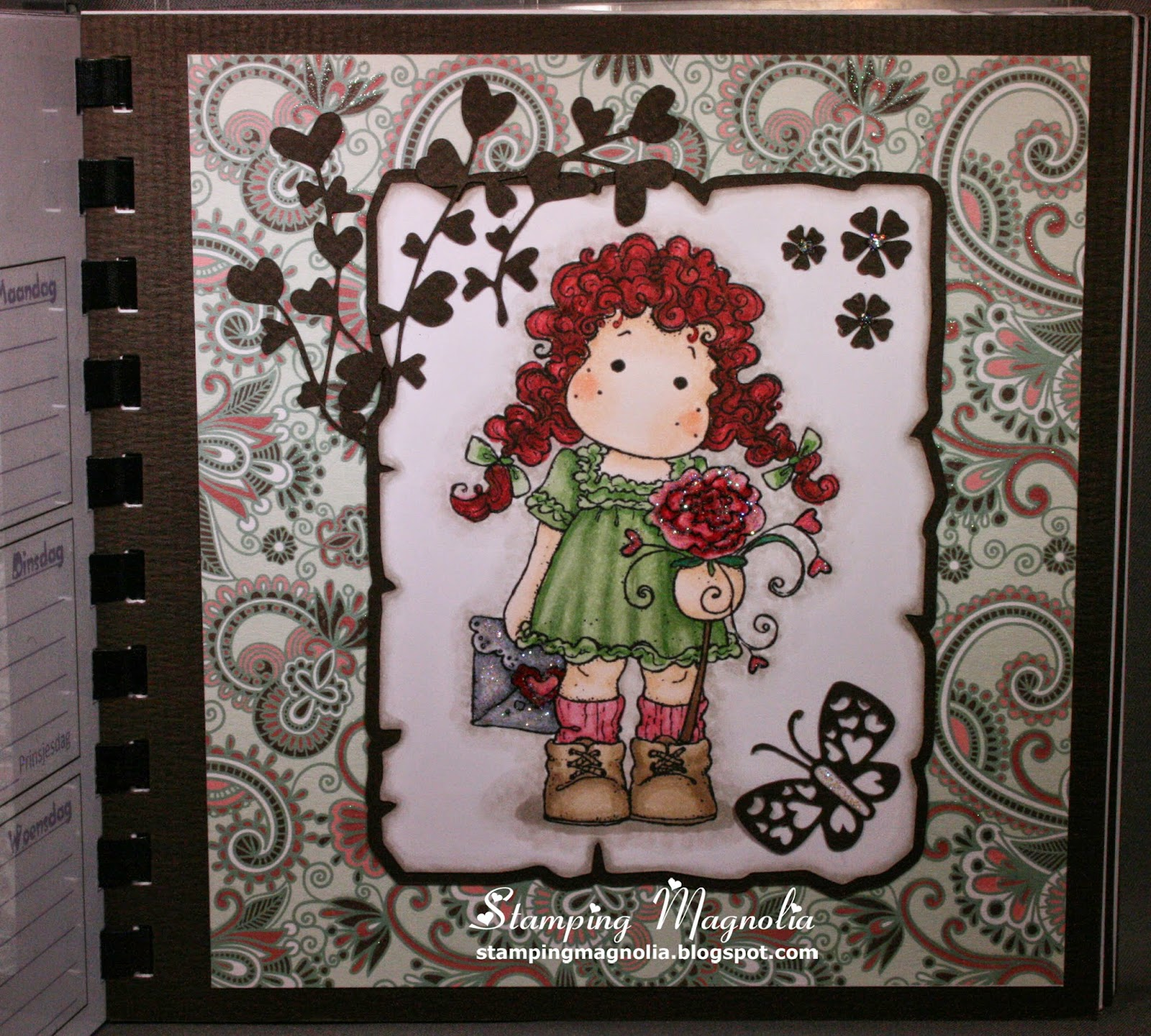 Coloring Magnolia Stamp Sweet Crazy Love Collection Tilda Sending Love Letter