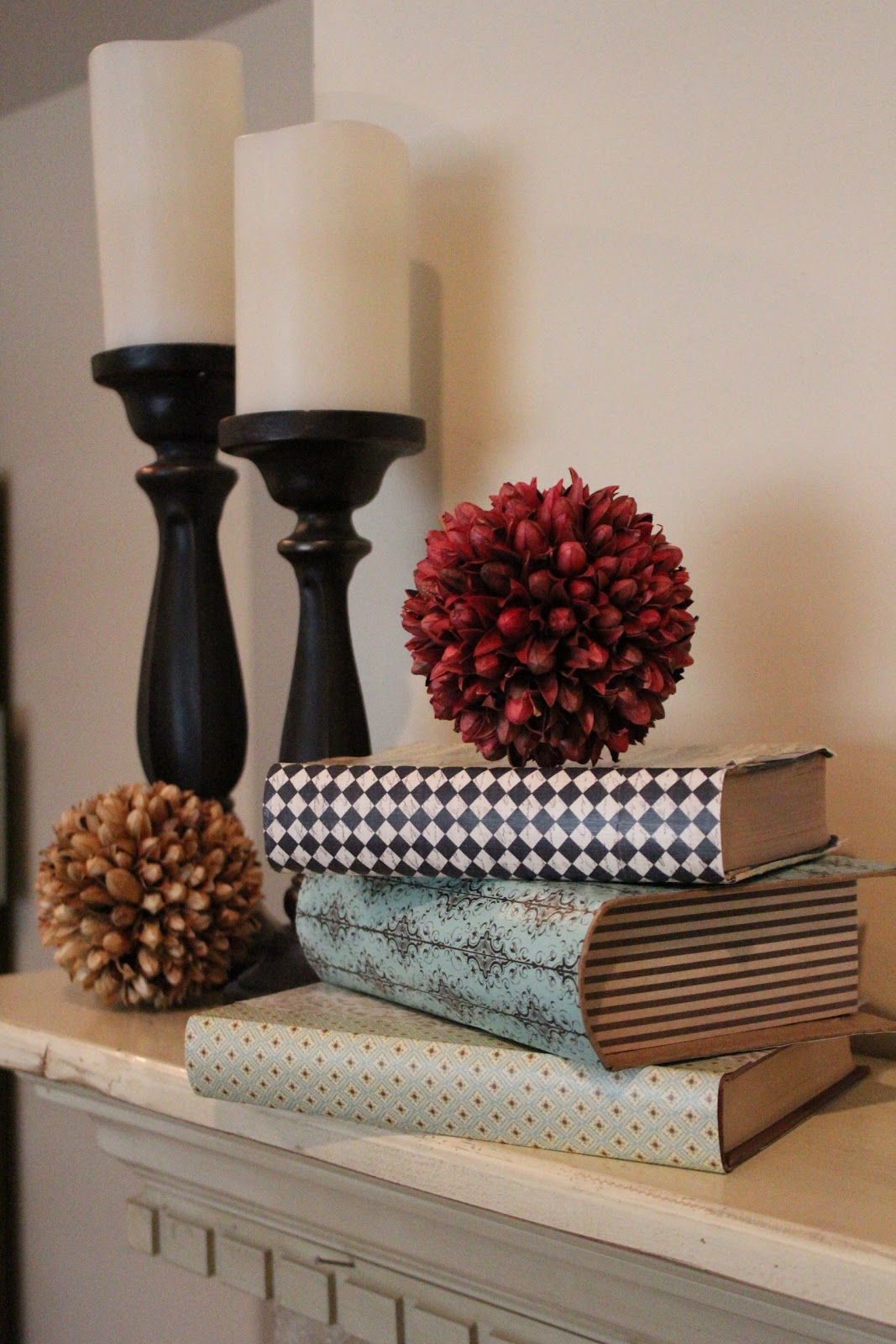 Diy Hardcover Book : Mommy vignettes diy hardcover book decor