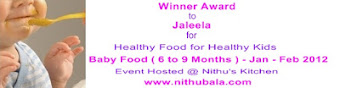 Winner of Healthy Baby food 6 to 9months