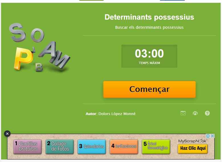 http://www.educaplay.com/es/recursoseducativos/819076/determinants_possessius.htm