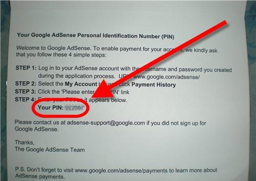 Bayaran Pertama Dari Google Adsense