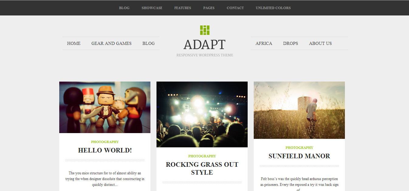 Template Blog Responsive Adapt