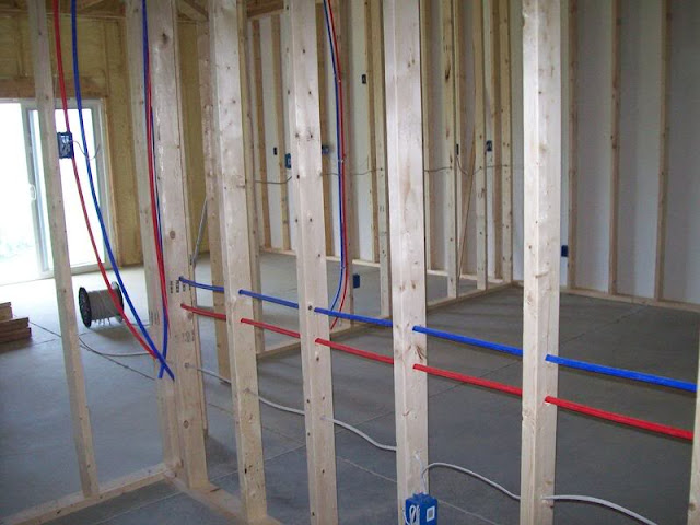 how to run pex through existing walls