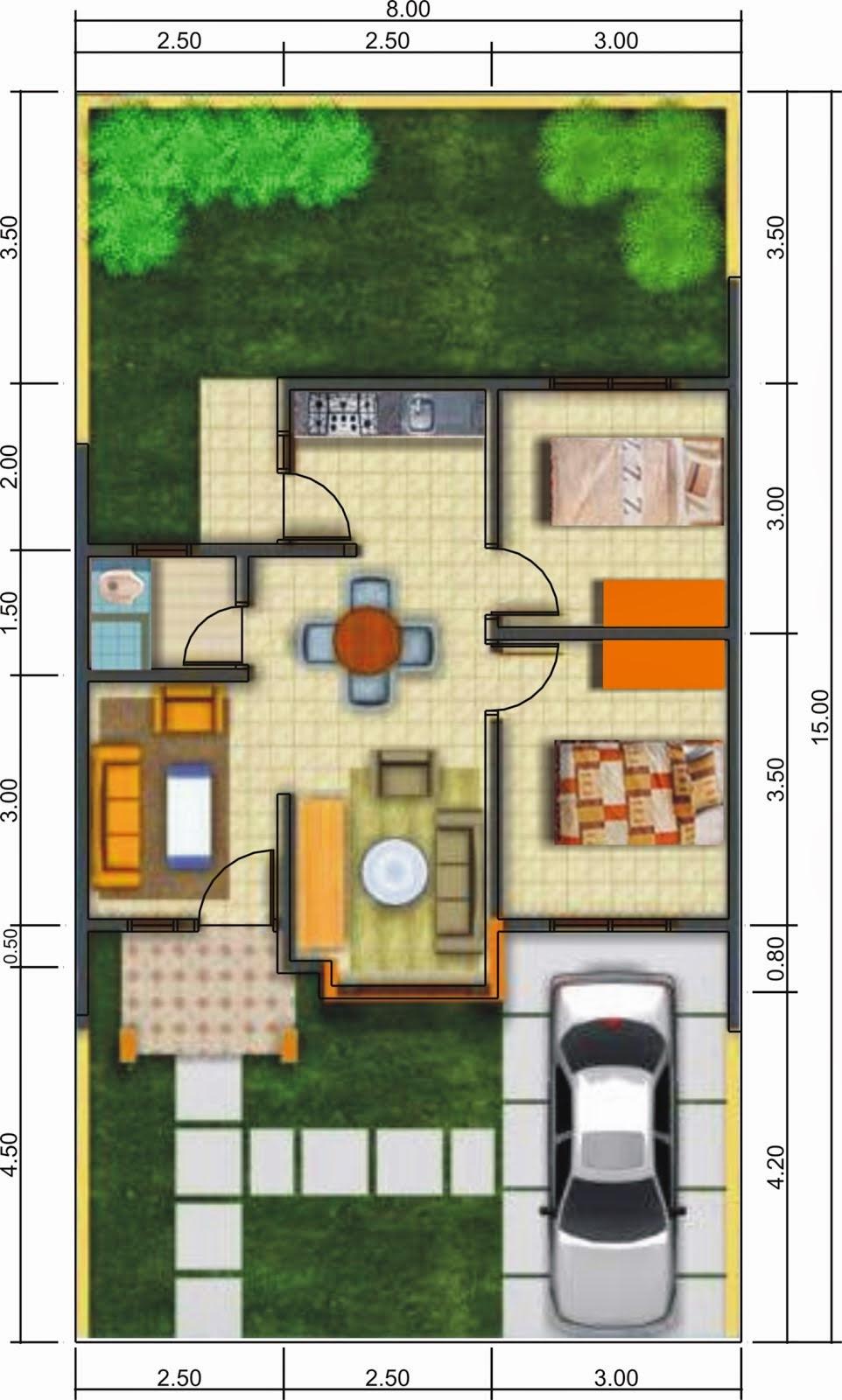 Denah Rumah Minimalis 1 Lantai Griya Inspiratif