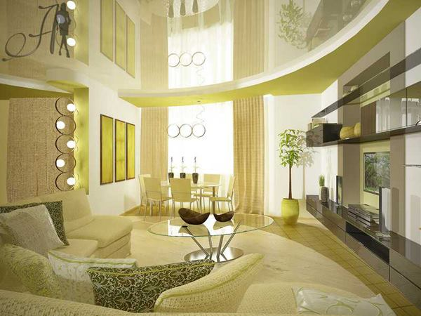 Green living room design ideas - living room design