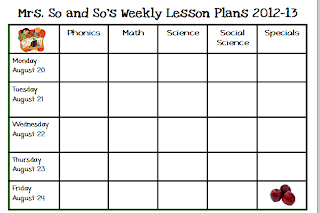 Free printable preschool lesson plan template