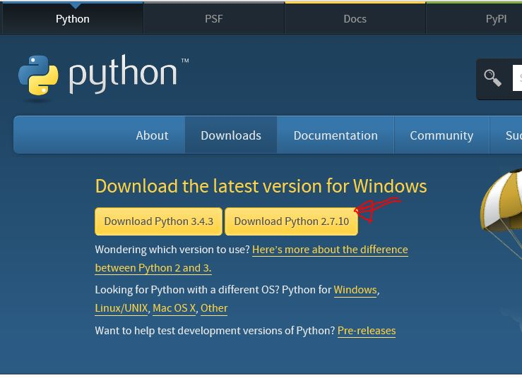 download python 2 7 for windows 10