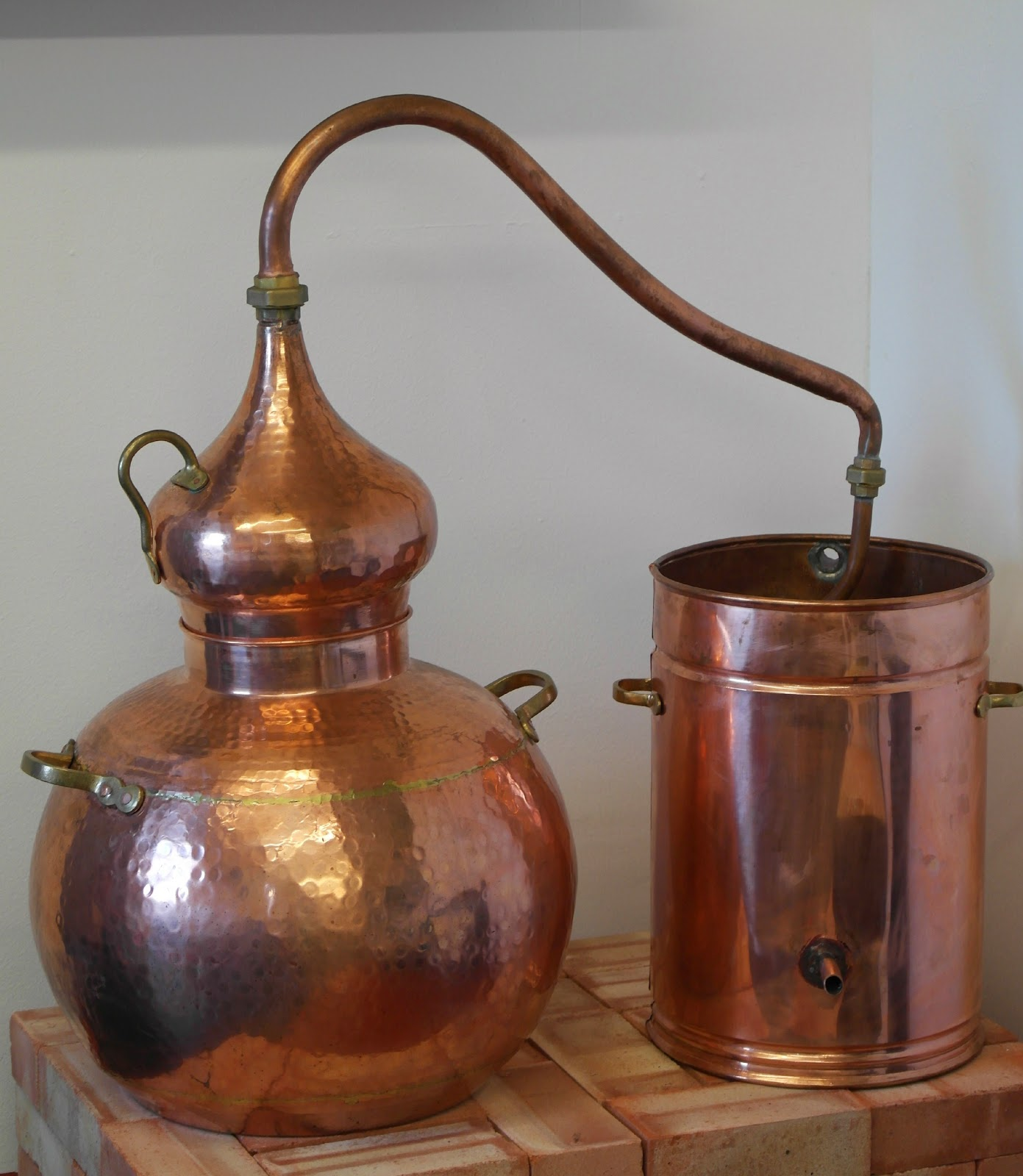 Copper vodka still