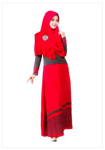 Contoh foto baju muslim modern terbaru 2016 katalog Foto baju gamis anak muda terbaru