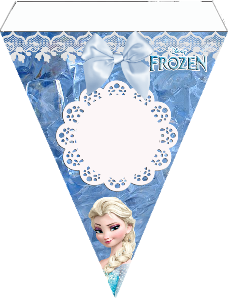 Clever image in frozen banner printable