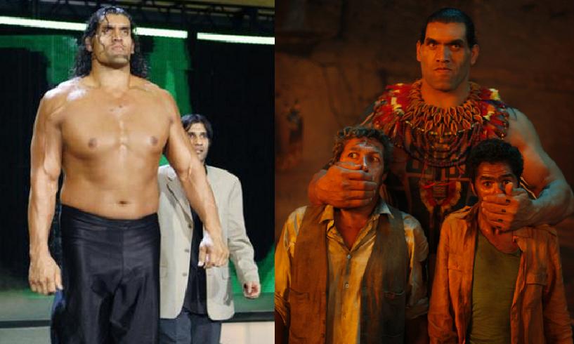 El gigante indio Khali con su gran trayectoria como luchador profesional ahora también actor