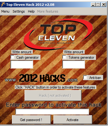 Download Top Eleven Hack 2012 Versi 2.08