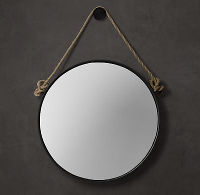 Hopes dreams diy captain 39 s mirror how to restoration for Restoration hardware round mirror
