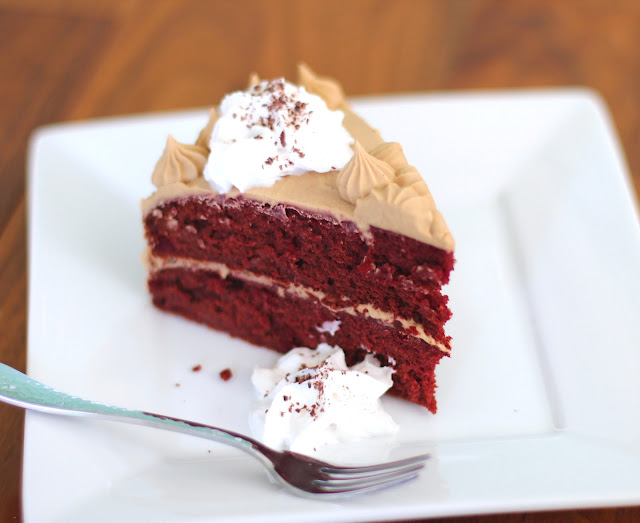 Red Velvet Cake with a Special Vanilla Frosting