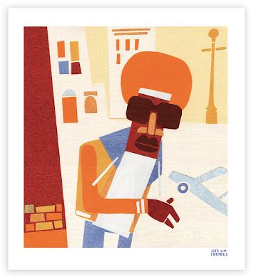 Alex Formika illustration collage New York