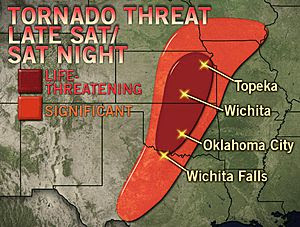 >LIFE-THREATENING PLAINS SEVERE WEATHER OUTBREAK LOOMS SATURDAY/SUNDAY