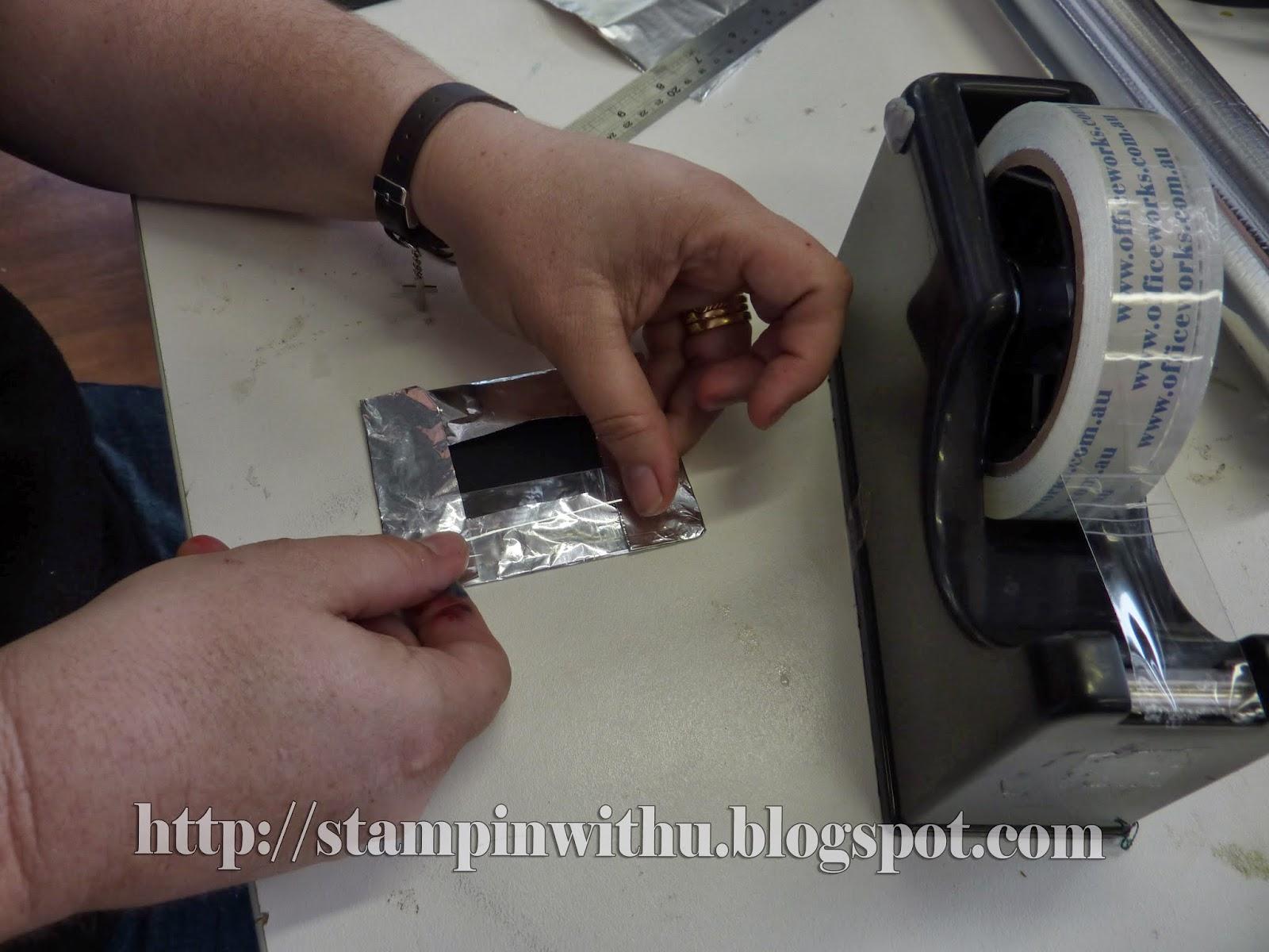 Sticking Foil Wrap on Cardstock