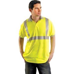 Safety Polo Shirt with collar Hi-Viz Orange- Extra Large