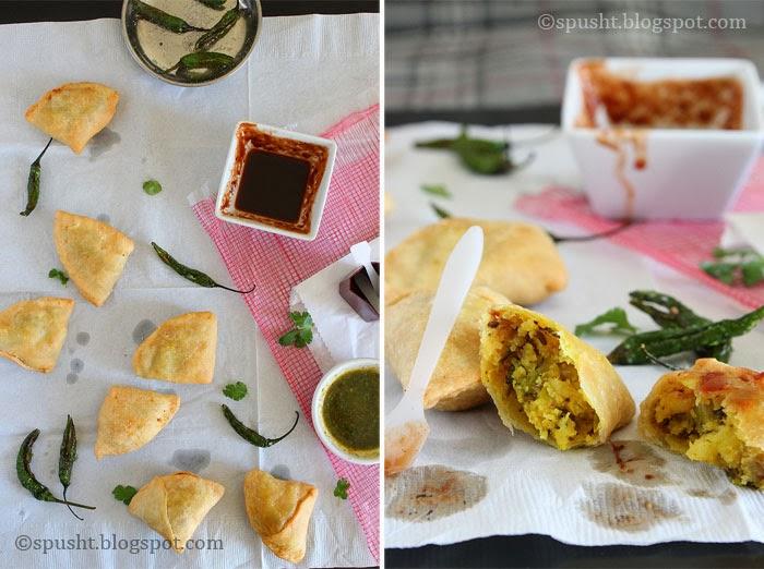 Spusht | Popular Indian snack: Samosa | Small Bite Size Samosa