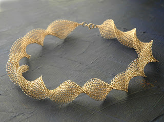 infinity wire crochet necklace