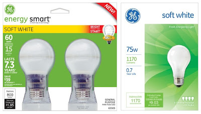 GE Energy Efficient bulbs