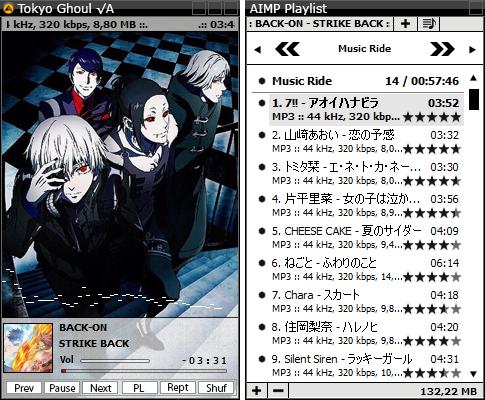 AIMP3 Skin Tokyo Ghoul √A 2.0