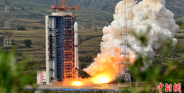 Long March-4C rocket launch with Feng Yun-3C satellite. Credit: chinanews.com