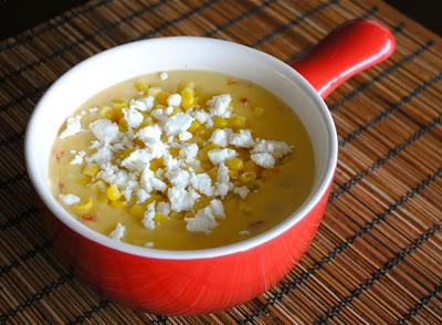 Мексиканский суп из кукурузы со сладким перцем