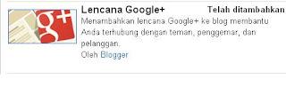 lencana google+
