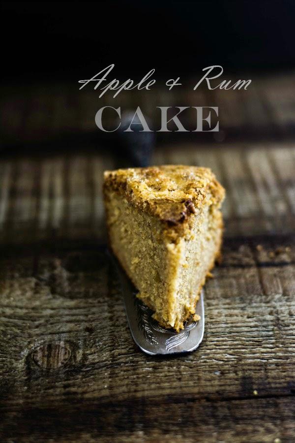 torta di mele al rum, mele e rum, apple rum cake