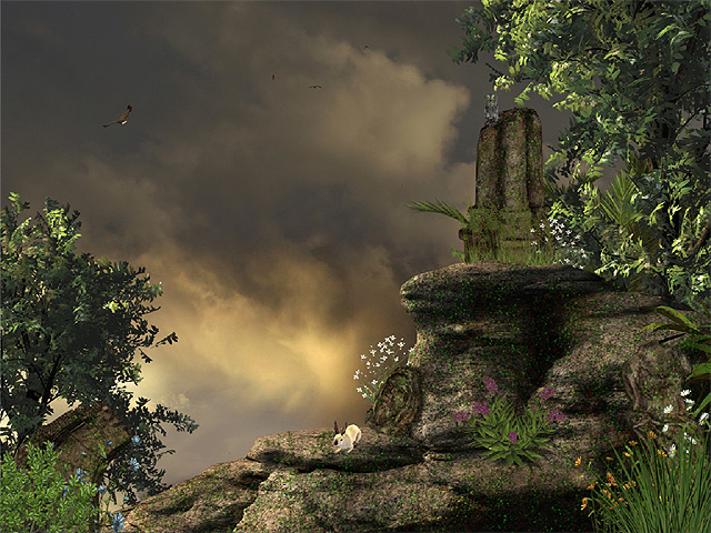 60970 Ancient Temple Ruins Animated Wallpaper