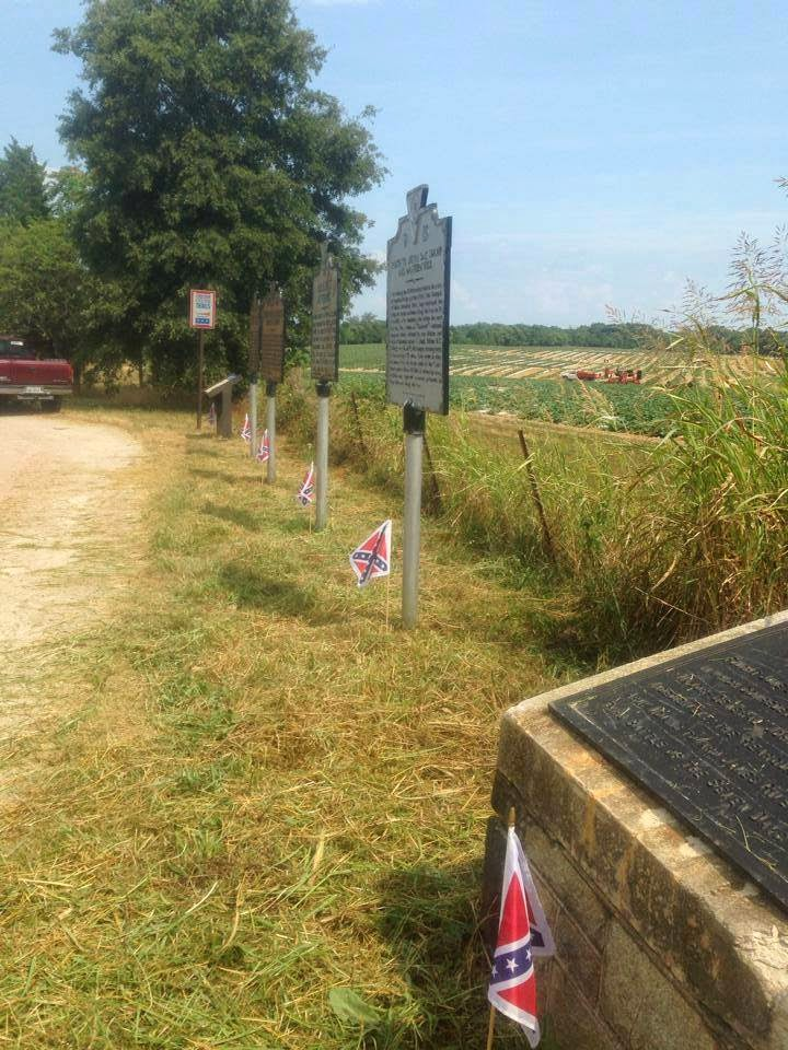 Confederate Station On Private Property