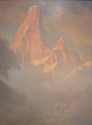 Albert Bierstadt Red Mountain Peaks